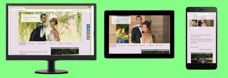 Un site internet personnalisé pour partager vos meilleurs moments avec vos invités et amis.